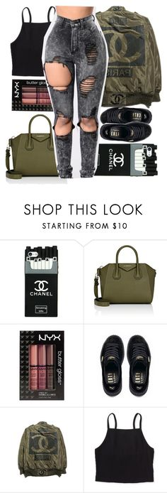 """""""If You A Fuxk Niqa Keep My Name Oucho Mouth"""" by b-a-b-y-g-ii-r-l ❤ liked on Polyvore featuring Givenchy, NYX, Puma and Aéropostale"""