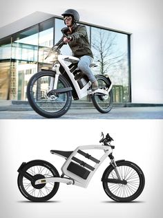 Feddz electric cargo scooter hauls gear in its frame...two belts on either side keep things secure.        learn more
