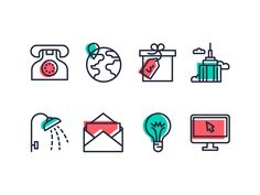 ClassPass #icondesign #twocolored #outline