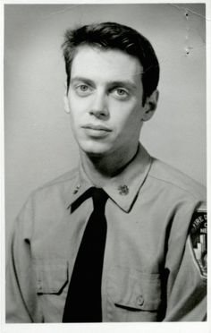 Steve Buscemi during his days as a New York firefighter. [1976] Buscemi rejoined his old engine company following 9/11 and helped search for survivors at Ground Zero.