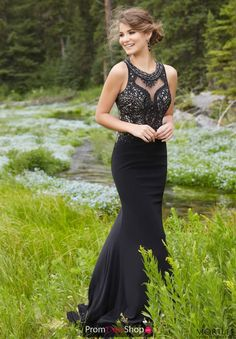 MoriLee Beaded Long Dress 99152