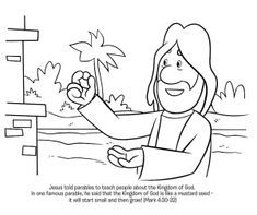 Parable of the Mustard Seed Coloring Page - Whats in the Bible