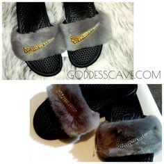 24c154063cbb Fur Nike Slides. Nike SlidesSilver PearlsFollow ...