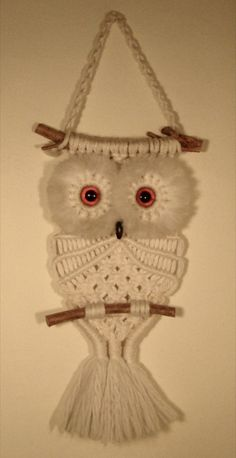 A macramé owl hung on the wall in almost every household.