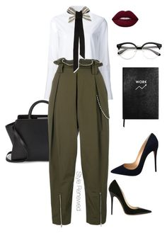 """Work Wear"" by sherristylz on Polyvore featuring Misha Nonoo, ZAC Zac Posen, Alexander Wang, Lanvin, Jimmy Choo, Christian Louboutin and Sloane Stationery"