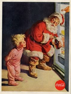 Coca-Cola 1959 Santa Christmas