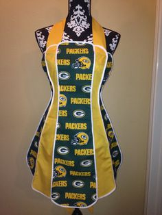 Vintage Style Apron Green Bay PackersFree by ACraftyTexasGirl