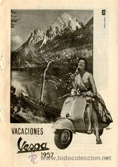 Página Publicidad Original *VESPA* Anuncio de la Agencia IPSA Publicidad -  Año 1957