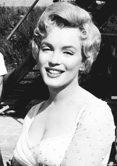 Marilyn Monroe during the production of The Prince and the Showgirl in 1956.
