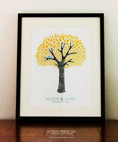 wedding gift ideas from a to z - print by citrus press