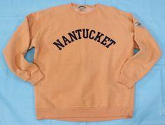 VIntage Nantucket Sweatshirt Sz L Orange USA MADE Pullover Crewneck Heavyweight #BreezinUp #Sweatshirt