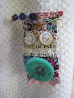 GASP! Button-face pin by Julie Arkell