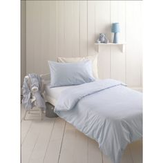 Helena Springfield Brushed Cotton Blue Polka Dot Duvet Cover - From