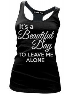 Pink Star Women's It's A Beautiful Day Racerback Tank Top - Black