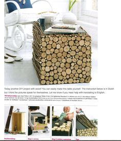 1000 images about rondin de bois on pinterest logs - Customiser table basse en bois ...