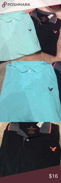 2 polo style American eagle xl 2 American eagle xl polo style shirt one is new short sleeve American Eagle Outfitters Tops