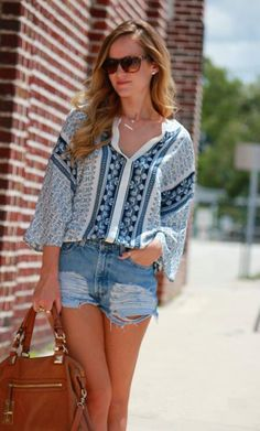 floral print tribal blouse - love the shirt!