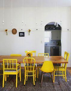 yellow chairs!!