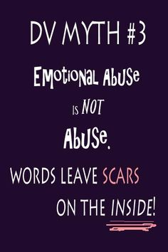 Abuse Myth - Emotional Abuse is NOT Abuse. Words leave scars on the… Verbal Abuse, Emotional Abuse, Nonviolent Communication, Hidden Agenda, Adverse Childhood Experiences, Antisocial Personality, Shadow Of The Almighty, Im A Survivor, Narcissistic Behavior