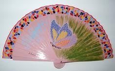 Spanish fan. Hand painted by Eloisa Duran.
