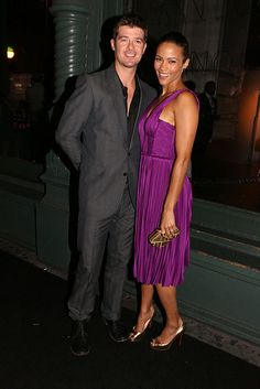 robin thicke and paula patton, beautiful couple Robin Thicke, Prom King And Queen, Paula Patton, Stylish Couple, Date Night Dresses, Famous Couples, Interracial Couples, Suit And Tie, Celebs