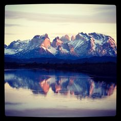 Sunrise at one my favourite places on earth...Torres del Paine, Patagonia, Chile. How about a tailor made trip designed for you and your friends? www.finisterra.ca