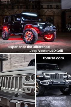The Vector Pro-Series Jeep Grill will make any Jeep stand out from the crowd. It is a feature packed replacement grill that has fully adjustable LEDs for low beams, high beams, and dynamic DRLs. Because of this Jeep owners can stay street-legal while on the road and become the apple of everyone's eye when parked and showing off. #jeep #jeepwrangler #jeepaccessories #jeepgladiator