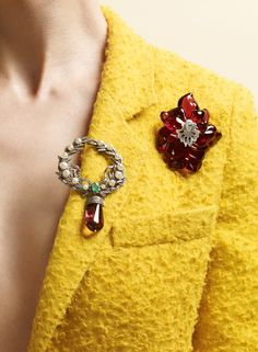 Brooches by Amrapali and Cartier