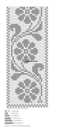 Home Decor Crochet Patterns Part 150 - Beautiful Crochet Patterns and Knitting Patterns Cross Stitch Bookmarks, Cross Stitch Borders, Cross Stitch Designs, Cross Stitching, Cross Stitch Patterns, Tapestry Crochet, Crochet Motif, Crochet Doilies, Crochet Stitches