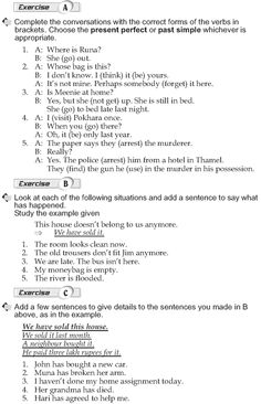 Grade 10 Grammar Lesson 3 Present perfect and past simple (2)