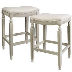 White Bar Stools, Counter Height Bar Stools, Bar Counter, Beige Cushions, Seat Cushions, Saddle Bar Stools, Stools For Kitchen Island, Kitchen Islands, Kitchen Cupboards