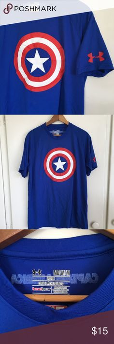 MEN'S Under Armour Captain America T No flaws. Under Armour Shirts Tees - Short Sleeve