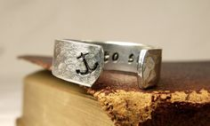 I Refuse to Sink - Secret Message Ring -  Affirmations - Aluminum Hand Stamped Ring