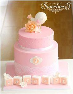 Pink birdy 1st Birthday