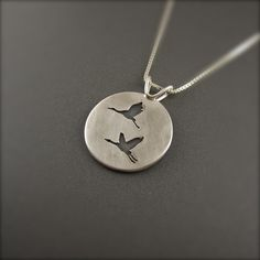 Flight Pendant - Standard Darkened Silver – Beth Millner Jewelry