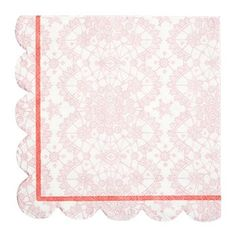 Pretty in Pink! A set of 20 pink lace party napkins with scallops. Pack contains: 20 pink lace napkins Napkin size (folded): x inches Neutral Shower Ideas, Cute Baby Shower Ideas, Gender Neutral Baby Shower, Pastel Party, Party Napkins, Lace Print, Pink Parties, Retro Floral, Pink Lace