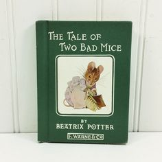 The Tale of Two Bad Mice by Beatrix Potter, 1980s F Warne & Co Peter Rabbit Series, First Edition by naturegirl22 on Etsy