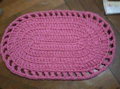 Alfombra en totora al crochet - Regalo para Sele