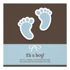 It's a Boy - Baby Shower Invitation