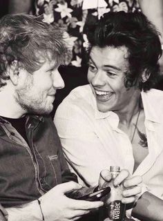 Ed Sheeran and Harry Styles. The greatest bromance in all the land.