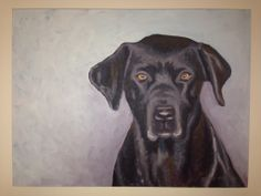 #black lab painting by Deana Marconi