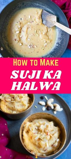Suji Ka Halwa, also known as Rava Sheera is a simple Indian semolina pudding, made with basic ingredients – semolina, sugar, and ghee. The pudding tastes divine, and takes just 20 minutes to prepare. | Sooji Halwa | Kesari Bath | Rava Kesari | Indian Dessert Recipe | Eggless Dessert | pipingpotcurry.com Indian Fish Recipes, North Indian Recipes, Indian Dessert Recipes, Paneer Recipes, Lentil Recipes, Curry Recipes, Vegetarian Recipes, Indian Cookies, Semolina Pudding