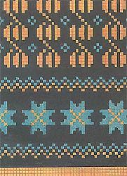 Latvian traditional knitting pattern for mittens