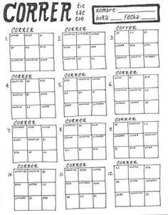 free printable spanish verb conjugation worksheet present