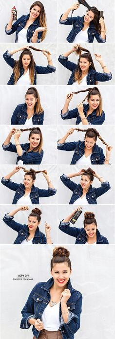 Twisted Top Knot - Going to to this tomorrow hopefully it comes out cause of my weird layers lol