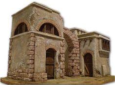 Belén oriental. Ayuntamiento de Alcobendas (Madrid) Mud House, Christmas Nativity Scene, Model Building, Inspired Homes, Paintball, Medieval, Lion Sculpture, Landscape, Architecture