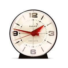 "Orb Alarm Clock - Black with White Face   dotandbo.com shelf decor $35 Dimensions: 4.7"" W x 4.3"" D x 4.7"" H 3-4 weeks, final sale"