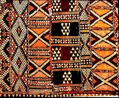 FABRIC: Kasai velvet ( Kuba cloth) is made in Africa, Congo,from the fiber of the raffia palm. Cultural Patterns, Ethnic Patterns, Textile Patterns, Textile Design, Print Patterns, African Patterns, Clothing Patterns, Tribal Print Pattern, Japanese Patterns