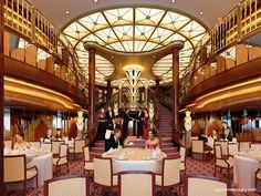 Afternoon Tea afloat - the Queen Victoria Ocean liner.  Very romantic.