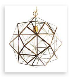 Granada Lantern, Rombus, Brass, - contemporary - Pendant Lighting - l'aviva home